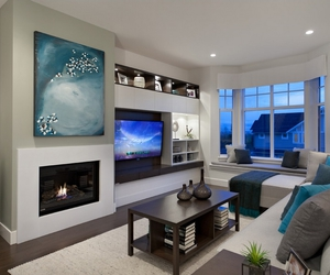 living room, house, and home image