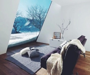 home, winter, and house image