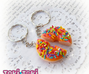 best friends, donut, and fake food image