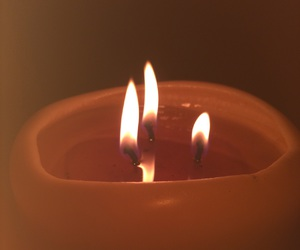 blur, candle, and flame image