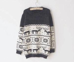 black, girly, and reindeer image