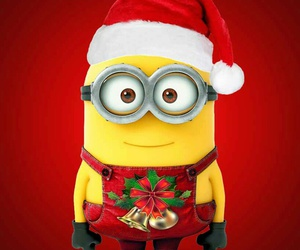 minions, christmas, and red image