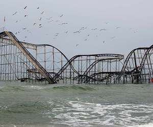sea, Roller Coaster, and grunge image