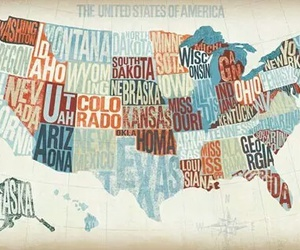 map, usa, and america image