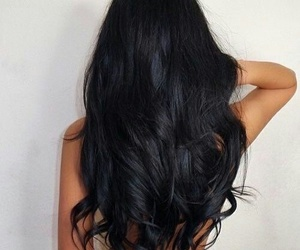 beautiful hair, black hair, and black image