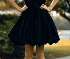 dress, black, and little black dress image