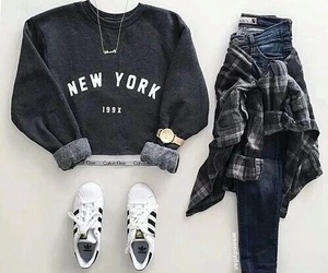 adidas, outfits, and jeans image
