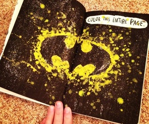 batman, wreck this journal, and black image