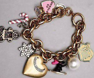 bracelet, juicy couture, and pink image