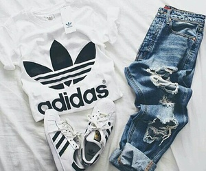 adidas, jeans, and look image