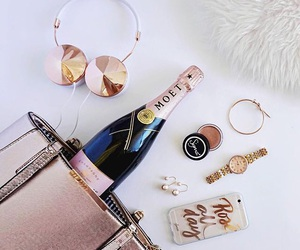 aesthetic, bag, and champagne image