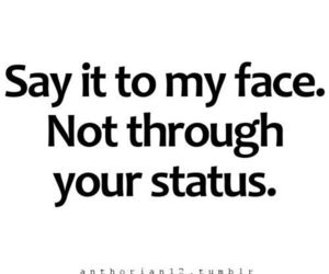 status, quote, and face image