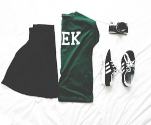 fashion, adidas, and geek image