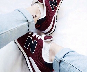 shoes, new balance, and jeans image