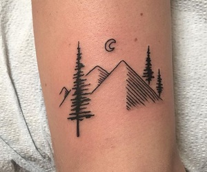 tattoo, indie, and moon image
