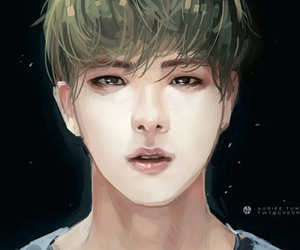 fanart, jin, and kpop image