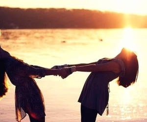 friends, sun, and best friends image