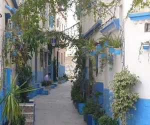 blue, morocco, and nature image