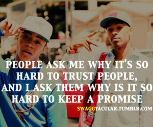 quote, promise, and trust image