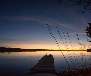 afterglow, autumn, and lake image