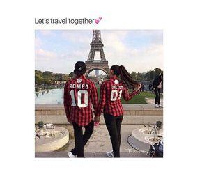 travel, couple, and paris image