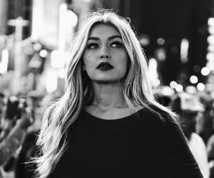 gigi hadid, model, and black and white image