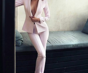classy, model, and pink image
