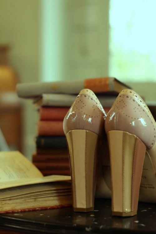 books, high heels, and shoes image