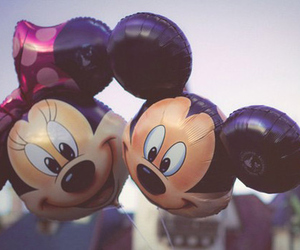 disney, mickey, and balloons image