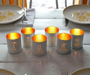 candle, dinner table, and diy image