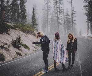 girl, friends, and winter image