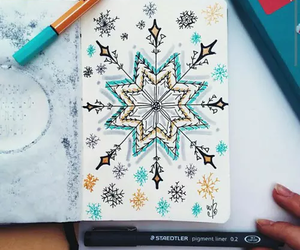 drawing, art, and winter image
