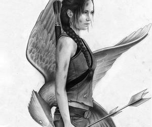 draw, Jennifer Lawrence, and katniss image