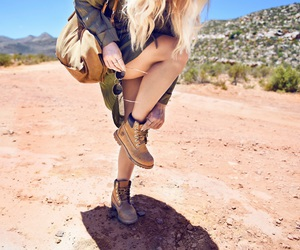boots, sunglasses, and desert image