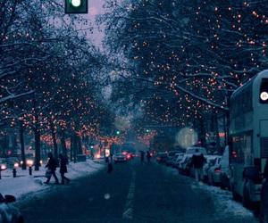 light, winter, and snow image