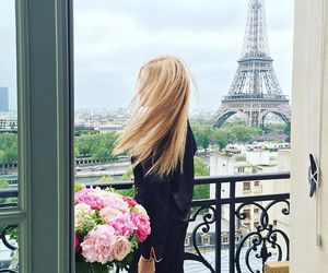flowers, paris, and girl image