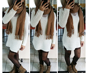 fashion, outfit, and winter outfit image