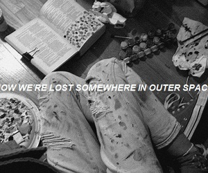 aesthetic, black and white, and fandom image