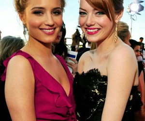 emma stone, dianna agron, and glee image