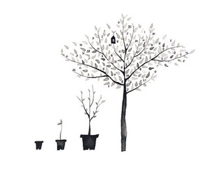 tree, art, and drawing image