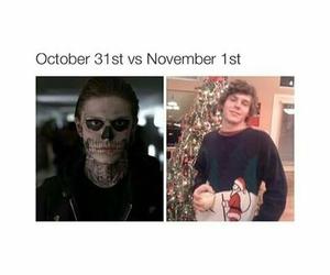 Halloween, evan peters, and ahs image