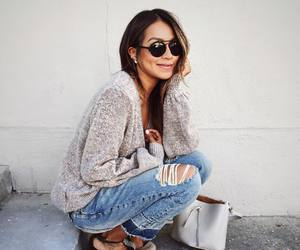 fashion, sunglasses, and jeans image