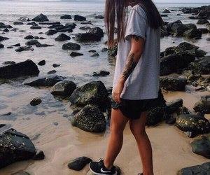girl, nike, and tattoo image