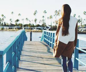 girl, walk, and nature image