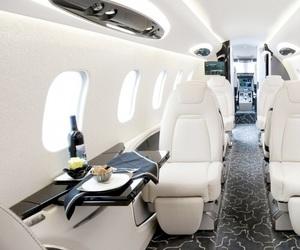 luxury, white, and plane image