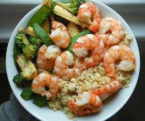 food, shrimp, and healthy image