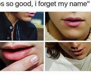 Harry Styles, one direction, and lips image