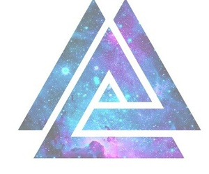 overlay, triangle, and galaxy image