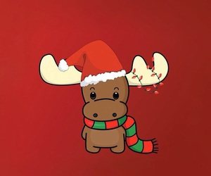 christmas, red, and reindeer image