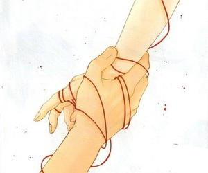 fate, red string, and japan image